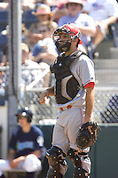 July 11, 2010: Spokane Indians catcher Brett Nicholas (7) during a Northwest League game against the Everett AquaSox at Everett Memorial Stadium in Everett, Washington.
