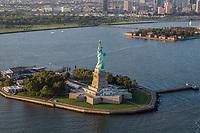 NOVA YORK, EUA, 17.09.2018 - CIDADE-NOVA YORK - Vista aerea da Estatua da Liberdade da cidade de Nova York nos Estados Unidos(Foto: Vanessa Carvalho/Brazil Photo Press)