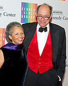 Gordon J. Davis and his wife, Peggy Cooper Davis, arrive for the formal Artist's Dinner honoring the recipients of the 2014 Kennedy Center Honors hosted by United States Secretary of State John F. Kerry at the U.S. Department of State in Washington, D.C. on Saturday, December 6, 2014. The 2014 honorees are: singer Al Green, actor and filmmaker Tom Hanks, ballerina Patricia McBride, singer-songwriter Sting, and comedienne Lily Tomlin.<br /> Credit: Ron Sachs / Pool via CNP