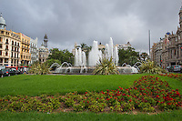 Spain, Valencia, fountain.