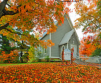 St. Andrews United Church in autumn<br /> Rosseau<br /> Ontario<br /> Canada