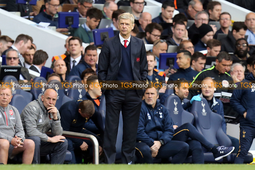 Arsenal manager Arsene Wenger during Tottenham Hotspur vs Arsenal, Premier League Football at White Hart Lane on 30th April 2017