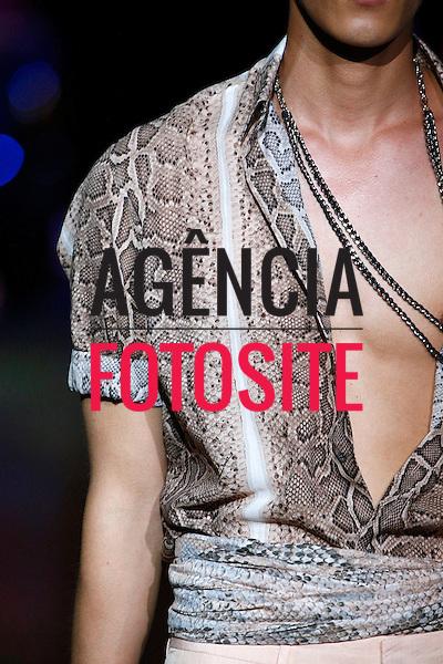 MIlao, Italia &ndash; 06/2014 - Desfile de Roberto Cavalli durante a Semana de moda masculina de Milao - Verao 2015. <br /> Foto: FOTOSITE
