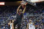 San Diego State forward Matt Mitchell (11) against Nevada during the first half of a basketball game played at Lawlor Events Center in Reno, Nev., Saturday, Feb. 29, 2020. (AP Photo/Tom R. Smedes)