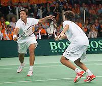 08-05-10, Tennis, Zoetermeer, Daviscup Nederland-Italie, Dubbles Robin Haase and Igor Sijsling (L)