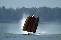 Frame 4: Jeff Shepherd blows over his Hoffman SST-120 boat during a qualifying run..PROP-Cypress Gardens Shootout, Winter Haven, Florida, USA 22 October,2000 copyright©F.Peirce Williams 2000..F.Peirce Williams .photography.P.O.Box 455  Eaton,OH 45320 USA.p: 317.358.7326  e: fpwp@mac.com