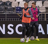 Julian Brandt (Deutschland Germany) und Matthias Ginter (Deutschland Germany) - 18.11.2019: Deutschland Abschlusstraining, Commerzbank Arena Frankfurt, EM-Qualifikation DISCLAIMER: DFB regulations prohibit any use of photographs as image sequences and/or quasi-video.