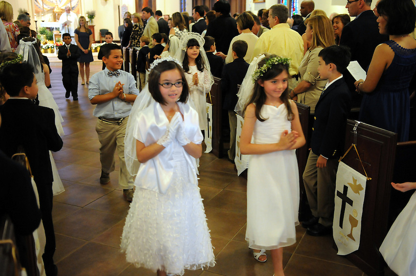 Holy Spirit School's First Communion Mass, Holy Spirit Catholic Church, Sacramento, California, Saturday, May 10, 2014. (photo by Pico van Houtryve) Holy Spirit School's First Communion Mass, Holy Spirit Catholic Church, Sacramento, California, Saturday, May 10, 2014. (photo by Pico van Houtryve)