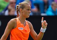 Netherlands, Den Bosch, 15.06.2014. Tennis, Topshelf Open, Arantxa Rus (NED) requests a challenge<br /> Photo:Tennisimages/Henk Koster