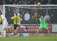 Coventry City's Lee Burge is beaten by Burton Albion's David Templeton free kick<br /> <br /> Photographer Mick Walker/CameraSport<br /> <br /> The EFL Sky Bet League One - Burton Albion v Coventry City - Saturday 17th November 2018 - Pirelli Stadium - Burton upon Trent<br /> <br /> World Copyright &copy; 2018 CameraSport. All rights reserved. 43 Linden Ave. Countesthorpe. Leicester. England. LE8 5PG - Tel: +44 (0) 116 277 4147 - admin@camerasport.com - www.camerasport.com