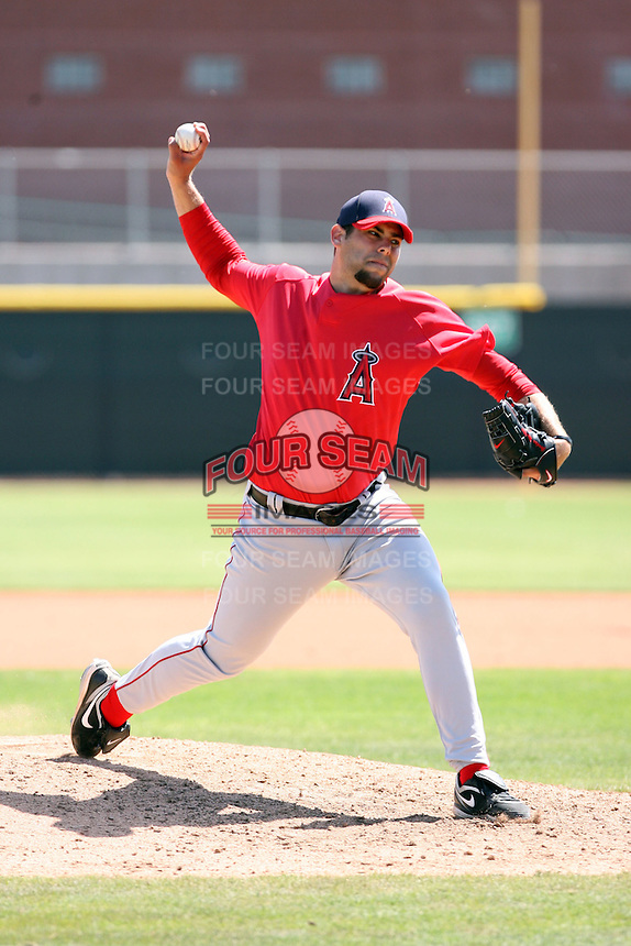 Jordan Walden, Los Angeles Angels 2010 minor league spring training..Photo by:  Bill Mitchell/Four Seam Images.