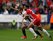 9th September 2017, Macron Stadium, Bolton, England; EFL Championship football, Bolton Wanderers versus Middlesbrough; Cyrus Christie of Middlesbrough challenges Filipe Morais of Bolton