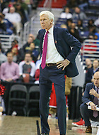 Washington, DC - March 11, 2018: Davidson Wildcats head coach Bob McKillop during the Atlantic 10 championship game between Rhode Island and Davidson at  Capital One Arena in Washington, DC.   (Photo by Elliott Brown/Media Images International)