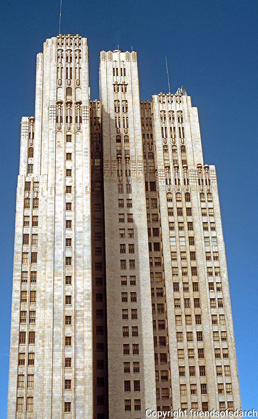 San Francisco: Pacific Telephone, Timothy Pflueger, 1925.  Building is a solid block from north.  Photo '78 from south.