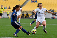 Japan&rsquo;s Emi Nakajima in action during the  International Football - Football Ferns v Japan  at Westpac Stadium, Wellington, New Zealand on Sunday 10 June 2018.<br /> Photo by Masanori Udagawa. <br /> www.photowellington.photoshelter.com