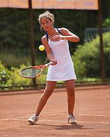 05-08-13, Netherlands, Dordrecht,  TV Desh, Tennis, NJK, National Junior Tennis Championships, Annebelle Bonapart Joelle Steur<br /> <br /> <br /> Photo: Henk Koster