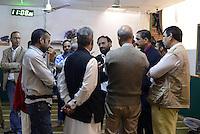 Roma, 2 Ottobre 2014<br /> Funerale islamico nella Moschea di Torpignattara di Muhammad Shahzad Khan, il giovane pakistano ucciso nel quartiere da un 17enne italiano che ha confessato l'omicidio.<br /> Gianaza, il rito islamico del funerale.<br /> Il cugino di Shahzad.<br /> La salma  dopo il funerale verrà riportata in Pakistan.<br /> <br /> <br /> Rome, October 2, 2014 <br /> Islamic burial in the Mosque of Torpignattara of Muhammad Shahzad Khan, the young Pakistani killed in the district by a 17 year old Italian who has confessed the murder.<br /> The body will be returned after the funeral in Pakistan.