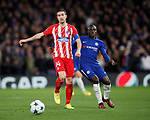 Gabi of Atletico Madrid and Ngolo Kante of Chelsea during the Champions League Group C match at the Stamford Bridge, London. Picture date: December 5th 2017. Picture credit should read: David Klein/Sportimage