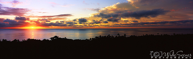 Niue Island Panorama - Sunset from Namukulu Motel in Niue<br />