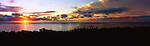 Niue Island Panorama - Sunset from Namukulu Motel in Niue<br /> <br /> Image taken on large format panoramic 6cm x 17cm transparency. Available for licencing and printing. email us at contact@widescenes.com for pricing.