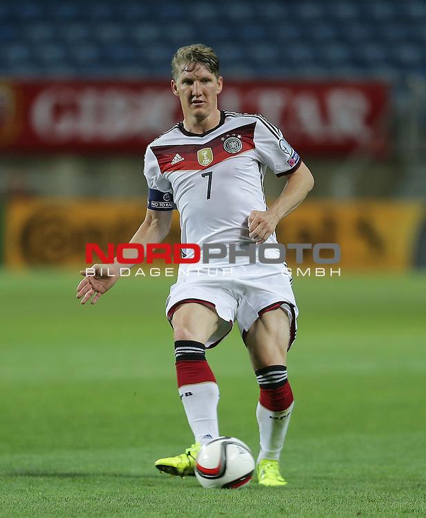 EM 2015 Qualifikationsspiel, Gibraltar vs. Deutschland<br /> Bastian Schweinsteiger (Deutschland)<br /> <br /> <br /> Foto &copy; nordphoto /  Bratic