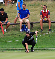 Thomas Pieters (BEL) on the 5th green during Round 1 of the D+D Real Czech Masters at the Albatross Golf Resort, Prague, Czech Rep. 31/08/2017<br /> Picture: Golffile | Thos Caffrey<br /> <br /> <br /> All photo usage must carry mandatory copyright credit     (&copy; Golffile | Thos Caffrey)