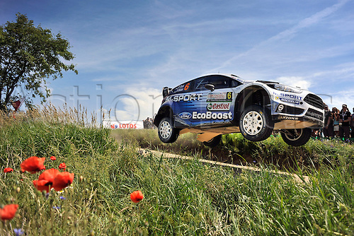 04.07.2015. Warsaw, Poland. WRC Rally of Poland.  Ott Tanak (EST) and R.Molder (EST)-Ford Fiesta WRC