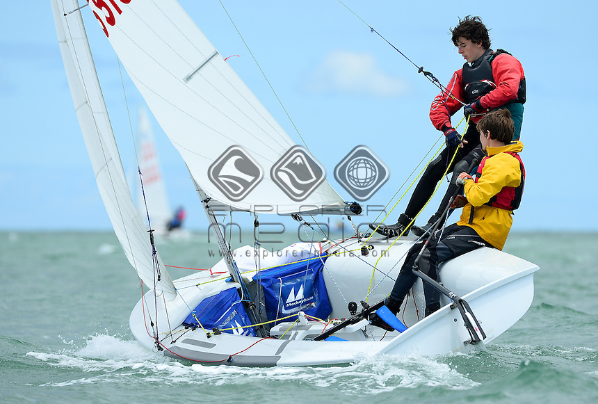 420 / Stan AUSTIN &amp; Kristian TIPOVSKY (AUS)<br /> 2013 ISAF Sailing World Cup - Melbourne<br /> Sail Melbourne - The Asia Pacific Regatta<br /> Sandringham Yacht Club, Victoria<br /> December 1st - 8th 2013<br /> &copy; Sport the library / Jeff Crow
