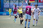 Aston Villa (in purple claret) vs HKFC U-23 (in white), during their Main Tournament match, part of the HKFC Citi Soccer Sevens 2017 on 27 May 2017 at the Hong Kong Football Club, Hong Kong, China. Photo by Chris Wong / Power Sport Images