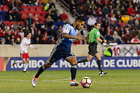 Harrison, NJ - Wednesday Feb. 22, 2017: Cristian Techera during a Scotiabank CONCACAF Champions League quarterfinal match between the New York Red Bulls and the Vancouver Whitecaps FC at Red Bull Arena.
