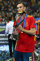 Fabian Ruiz of Spain  wins and celebrates the cup<br /> Udine 30-06-2019 Stadio Friuli <br /> Football UEFA Under 21 Championship Italy 2019<br /> final<br /> Spain - Germany<br /> Photo Cesare Purini / Insidefoto