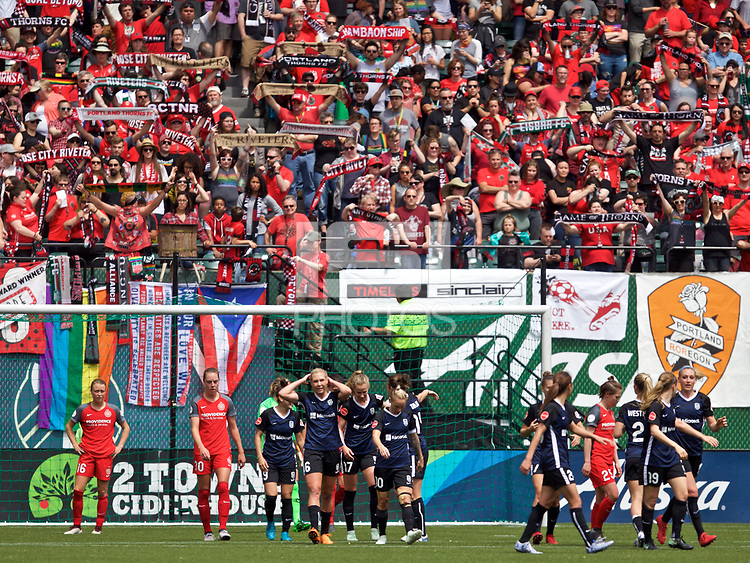 Portland, OR - Saturday, May 5, 2018: Portland Thorns FC vs Seattle Reign at Providence Park.