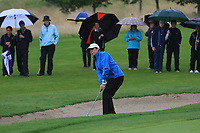 Eilish O'Connell (Tullamore) on the 15th green during the Final round of the Irish Mixed Foursomes Leinster Final at Millicent Golf Club, Clane, Co. Kildare. 06/08/2017<br /> Picture: Golffile | Thos Caffrey<br /> <br /> <br /> All photo usage must carry mandatory copyright credit     (&copy; Golffile | Thos Caffrey)