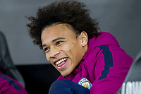 Leroy Sane of Manchester City on the bench ahead of the EPL - Premier League match between Swansea City and Manchester City at the Liberty Stadium, Swansea, Wales on 13 December 2017. Photo by Mark  Hawkins / PRiME Media Images.