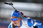 IBU World Championships Biathlon 2017 Hochfilzen. Germany's Laura Dahlmeier wins the Gold Medal of the Women 12.5 km Mass Start Race in Hochfilzen, Austria on 20170219. Susan Dunklee from USA is second and Finland's Kaisa Makarainen takes the bronze. Lisa Vittozzi