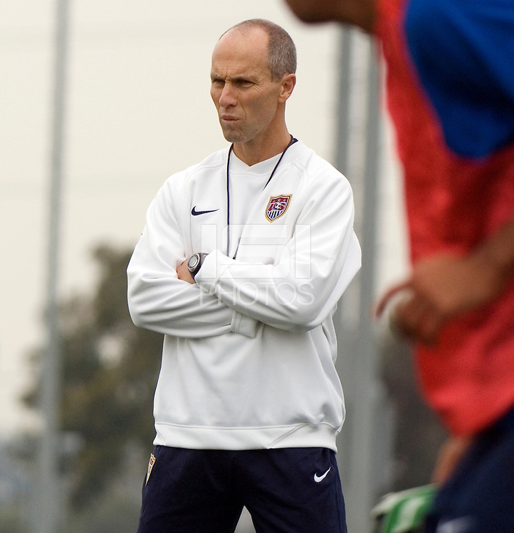 USMNT Head Coach Bob Bradley during the team's first training session at the Home Depot Center in Carson, CA.