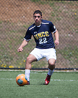 The UNC Greensboro Spartans played the University of South Carolina Gamecocks in The Manchester Cup on April 5, 2014.  The teams played to a 0-0 tie.Jake Fields (22)
