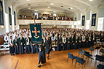 St Cuthbert's year 13 students during their leavers service, % December 2019. Photograph by Greg Bowker/BW Media