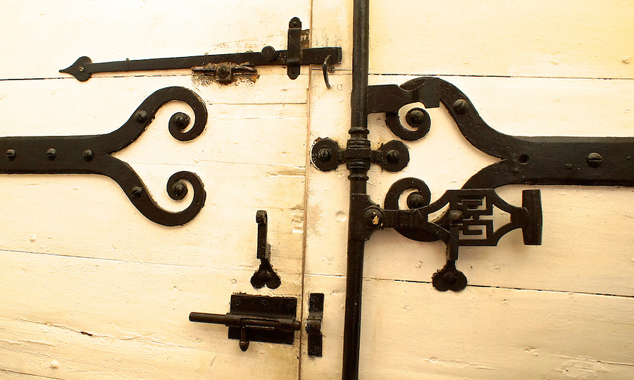 Congenies, South of France, Iron Door Hinges, Medieval Design
