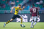 Borussia Dortmund Midfielder Andre Schurrle (L) in action against AC Milan Defender Cristian Zapata (R) during the International Champions Cup 2017 match between AC Milan vs Borussia Dortmund at University Town Sports Centre Stadium on July 18, 2017 in Guangzhou, China. Photo by Marcio Rodrigo Machado / Power Sport Images