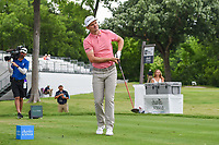 Justin Rose (GBR) watches his tee shot on 3 during round 4 of the 2019 Charles Schwab Challenge, Colonial Country Club, Ft. Worth, Texas,  USA. 5/26/2019.<br /> Picture: Golffile | Ken Murray<br /> <br /> All photo usage must carry mandatory copyright credit (© Golffile | Ken Murray)