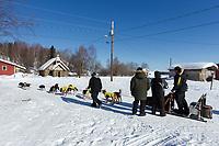 Musher Ed Slielstra checks into Grayling on Saturday during Iditarod 2011