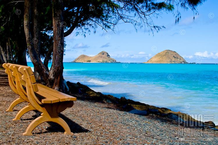 Bellow's Beach View of Mokulua Islands