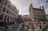 race start at the ancient Leuven city hall<br /> <br /> 52nd GP Jef Scherens - Rondom Leuven 2018 (1.HC)<br /> 1 Day Race: Leuven to Leuven (186km/BEL)
