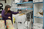 Istanbul - Turkey - 04 February 2015 -- Young entrepreneurs. -- Seyhan Dogru, 32, organizes the goods at the Dogo shoe and bag store  -- PHOTO: Agata SKOWRONEK / EUP-IMAGES