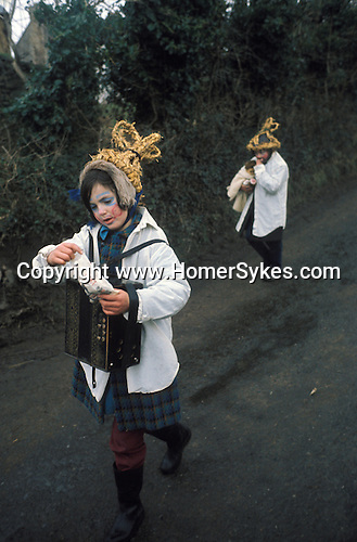 Biddy Boys 1970s. Killorglin   Co Kerry Ireland. February 2nd festival to celebrate the Celtic Saint Bridgid.