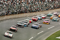 DAYTONA BEACH, FL - JUL 2, 1994:  Mark Martin leads the field in the #6 Ford Thunderbird during the Pepsi 400 NASCAR Winston Cup race at Daytona International Speedway, Daytona Beach, FL. (Photo by Brian Cleary/www.bcpix.com)