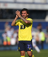Blackburn Rovers' Bradley Dack applauds the Blackburn fans at the end of the game<br /> <br /> Photographer Rob Newell/CameraSport<br /> <br /> The EFL Sky Bet Championship - Queens Park Rangers v Blackburn Rovers - Friday 19th April 2019 - Loftus Road - London<br /> <br /> World Copyright © 2019 CameraSport. All rights reserved. 43 Linden Ave. Countesthorpe. Leicester. England. LE8 5PG - Tel: +44 (0) 116 277 4147 - admin@camerasport.com - www.camerasport.com