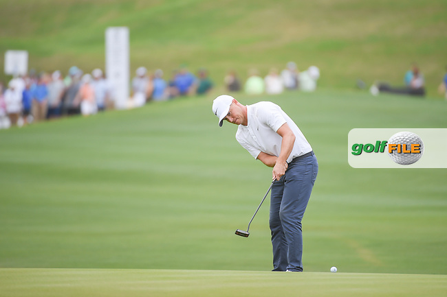 Alex Noren (SWE) watches his putt on 12 during sudden death playoff with Kevin Kisner (USA) during day 5 of the World Golf Championships, Dell Match Play, Austin Country Club, Austin, Texas. 3/25/2018.<br /> Picture: Golffile | Ken Murray<br /> <br /> <br /> All photo usage must carry mandatory copyright credit (© Golffile | Ken Murray)