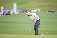 Alex Noren (SWE) watches his putt on 12 during sudden death playoff with Kevin Kisner (USA) during day 5 of the World Golf Championships, Dell Match Play, Austin Country Club, Austin, Texas. 3/25/2018.<br /> Picture: Golffile | Ken Murray<br /> <br /> <br /> All photo usage must carry mandatory copyright credit (&copy; Golffile | Ken Murray)